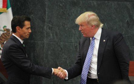 SE REÚNE CON DONALD TRUMP EN LOS PINOS